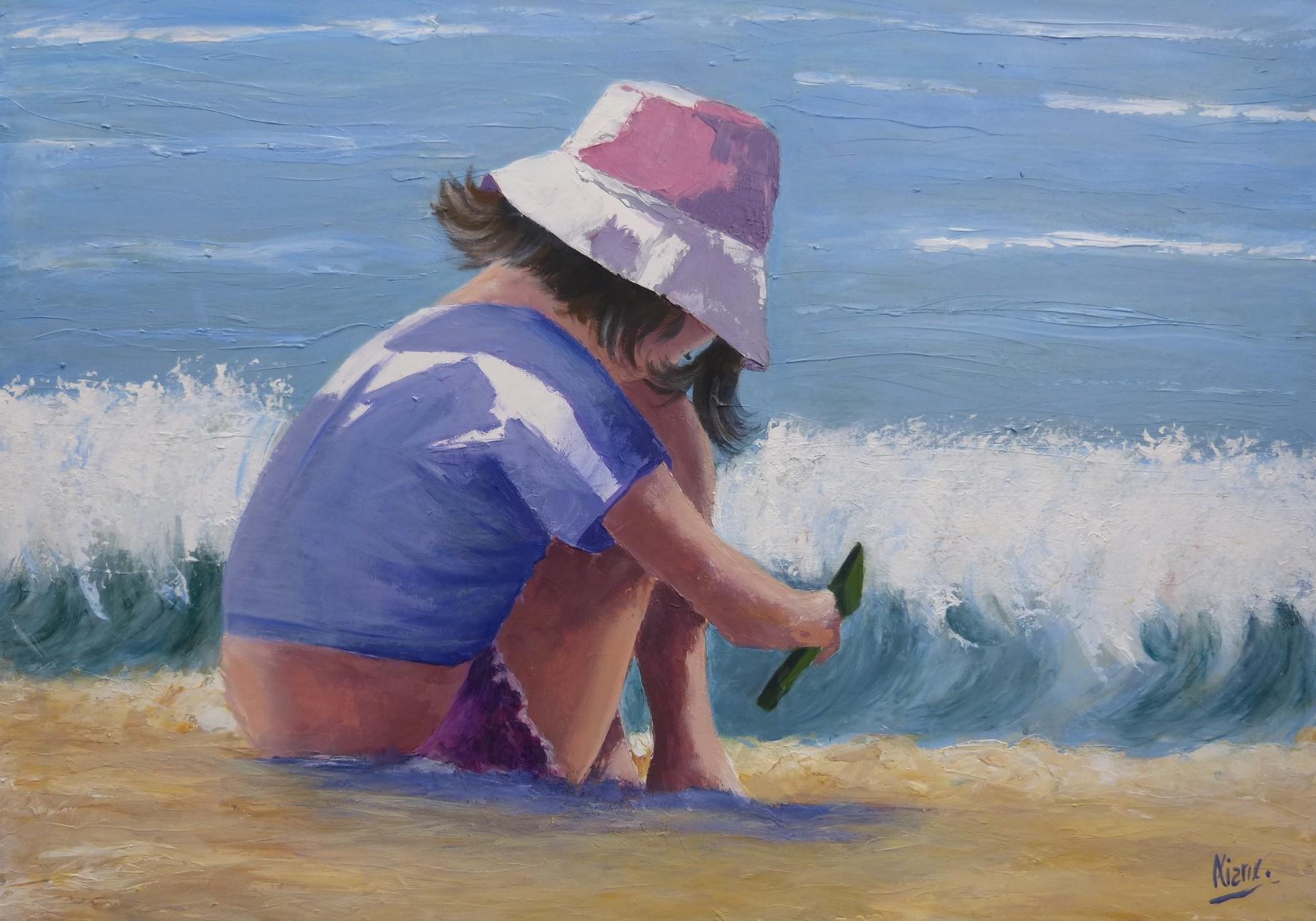 Jeux de plage Acrylique 070x050